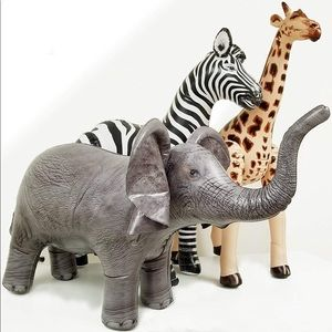 Safari 3 pack animals for party decoration